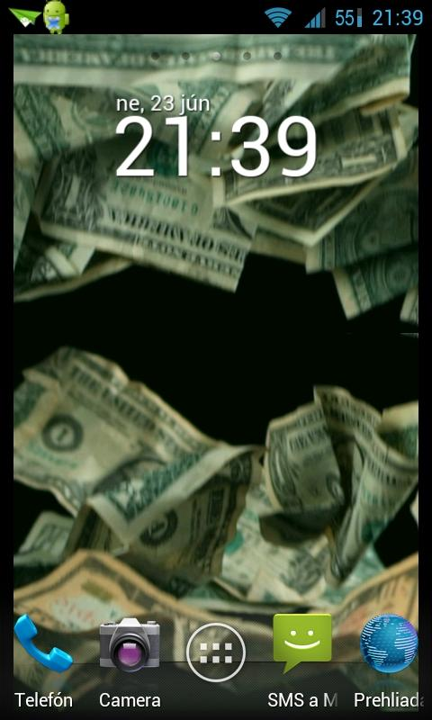 Falling money HD LWP - screenshot