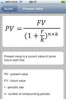 Screenshot of All financial formulas