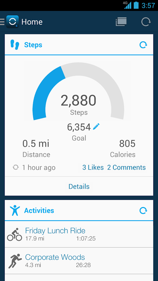 Garmin Connect™ Mobile - screenshot