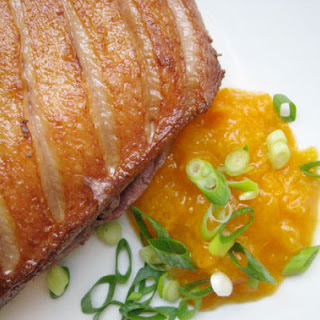 Seared Duck Breast and Apricot Compote