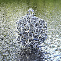 BRO WOVEN DODECAHEDRON PENDANT