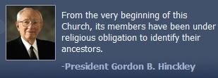 照片和报价立即过去教会主席,戈登B. Hinckley。