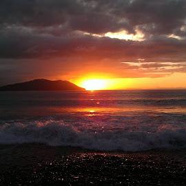 Tonight's sunset on the Salish Sea  by Gene Richardson - Landscapes Sunsets & Sunrises (  )