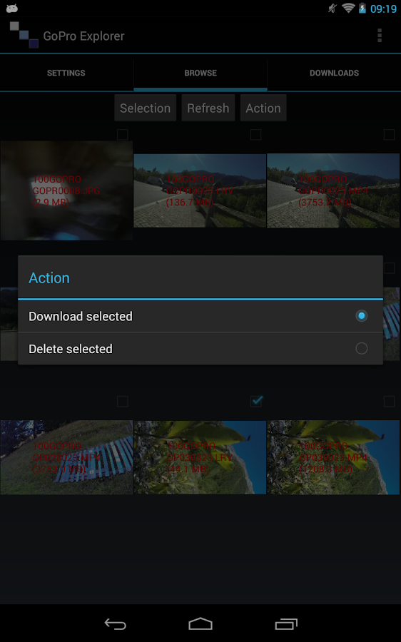 Wifi Media Download for GoPro- screenshot