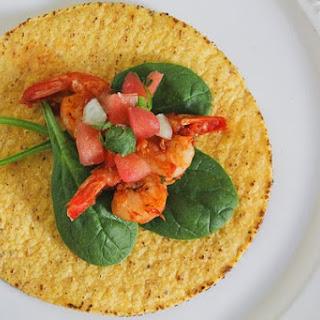 Spicy, Shrimp Salad Tostadas