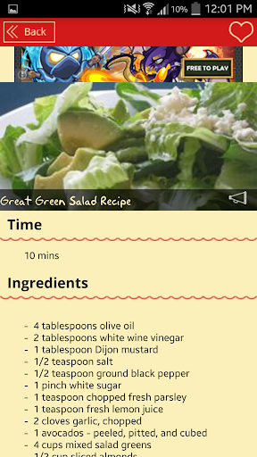 Green salad recipes.
