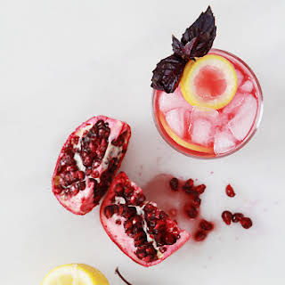 Pomegrante & Purple Basil Gin Smash.