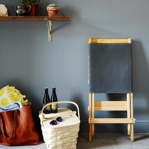 Waxed Canvas & White Ash Travel Chair
