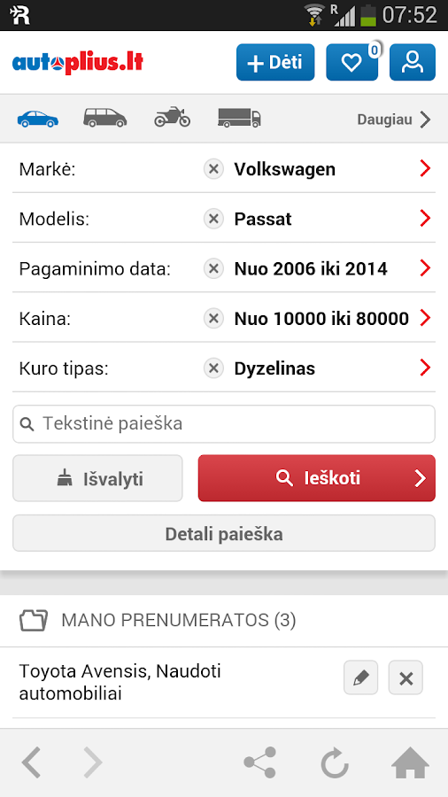 Литовские автомобильные сайты