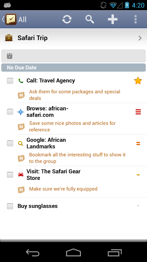2Do: To do List | Task List - screenshot