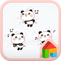 Panda stick dodol launcher icon