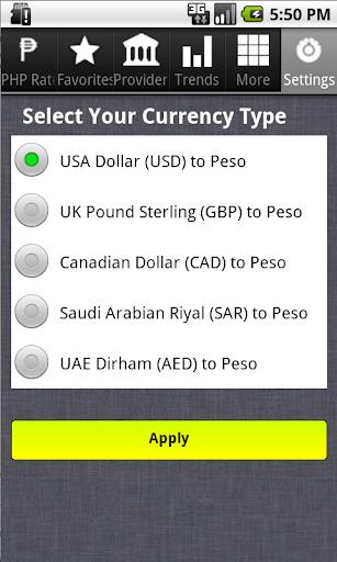 Dollar to Philippine Peso Pro