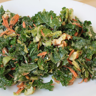Chopped Brussels Sprout & Kale Salad with Dijon Shallot Dressing