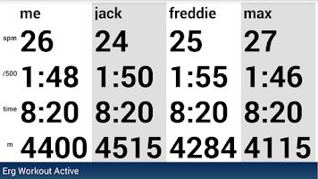 Screenshot of BoatCoach for rowing & erging