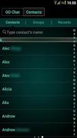 Screenshot of GO SMS Platinum Cyan Theme