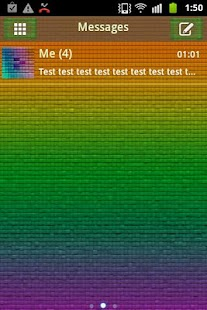 GO SMS Theme Color Pixel - screenshot thumbnail