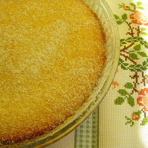Coconut Pudding Pie