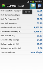 HealthMax - Health Calculator- screenshot thumbnail