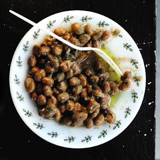 Bagula (Garlic and Dill Fava Bean Salad).