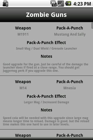 Black Ops Zombie Guide Pro - screenshot