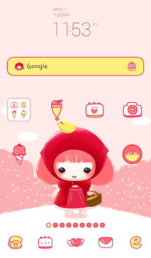 pink blossom dodol theme