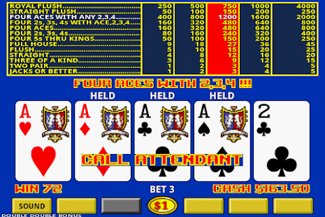 double up video poker