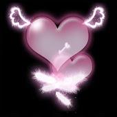 3D pink hearts