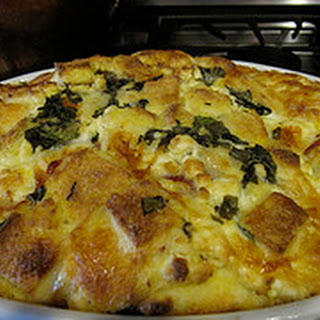 Prosciutto and Goat Cheese Strata