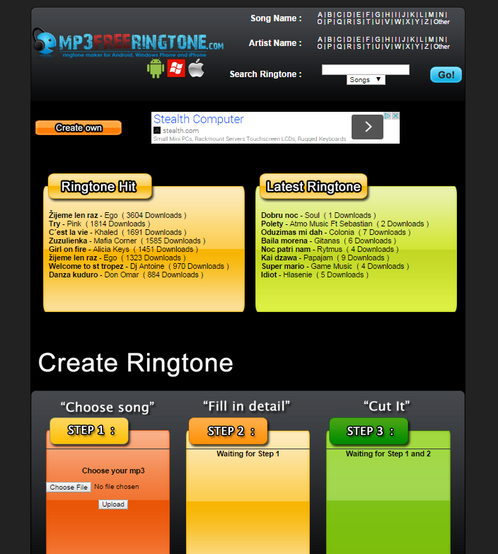 Free ringtone maker- screenshot