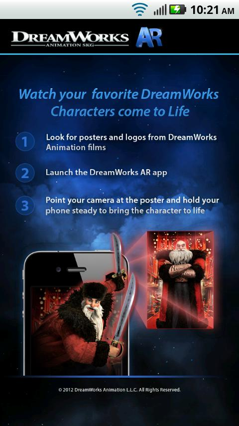 DreamWorks Animation AR- screenshot