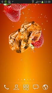 Strawberry juice LWP screenshot