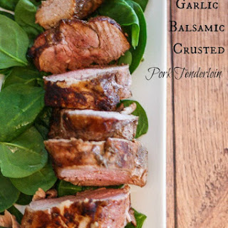 Garlic Balsamic Crusted Pork Tenderloin
