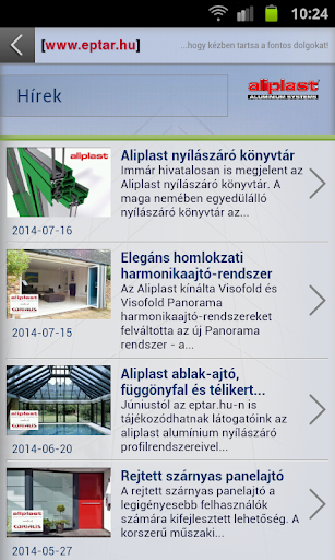 Aliplast Mobil App