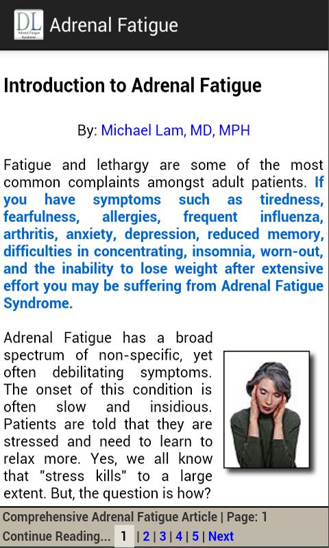 Adrenal Fatigue - screenshot
