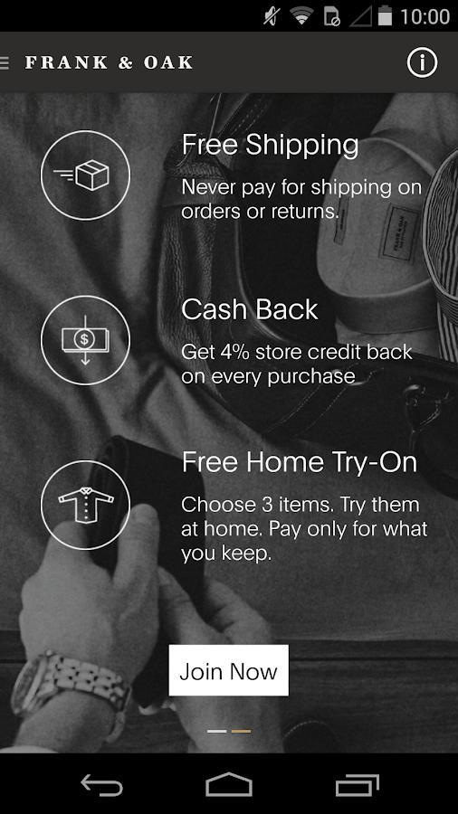 Frank & Oak - Premium Menswear - screenshot