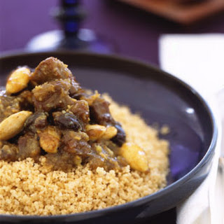Moroccan Lamb Tagine with Raisins, Almonds, and Honey