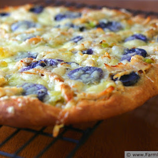 Irish Cheddar Chicken Potato Leek Pizza Recipe