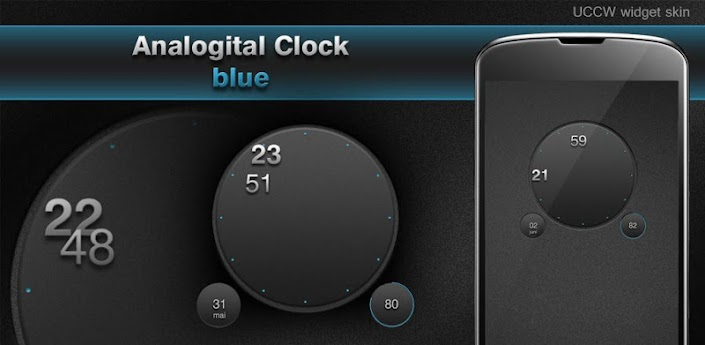 Analog Digital clock UCCW skin