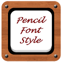 Pencil Font Style icon