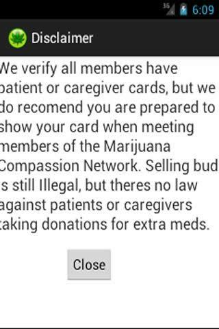 Marijuana Compassion Network - screenshot