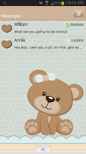 Go Sms Teddy Bear Teal