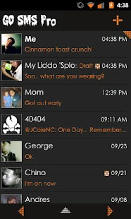 Go SMS Theme Orange Minimal - screenshot thumbnail