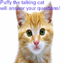 Talking cat Puffy adventures logo