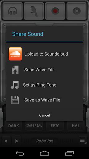 RoboVox Voice Changer 1.8.4 screenshots 2