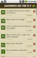 Screenshot of Answers on the Fly