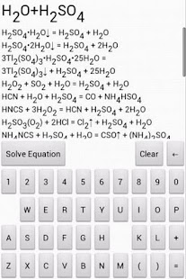 Chemical Equation Solver Free - screenshot thumbnail