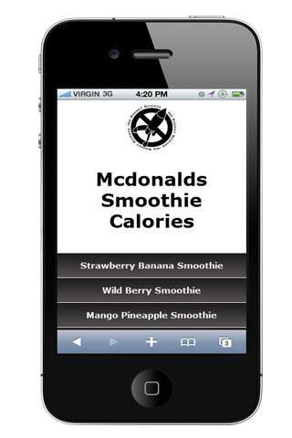 Mcdonalds Smoothie Calories - screenshot