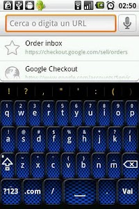 Blue Carbon Keyboard Skin screenshot 0