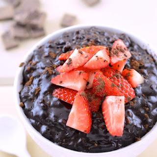 Dark Chocolate Brown Rice Pudding.