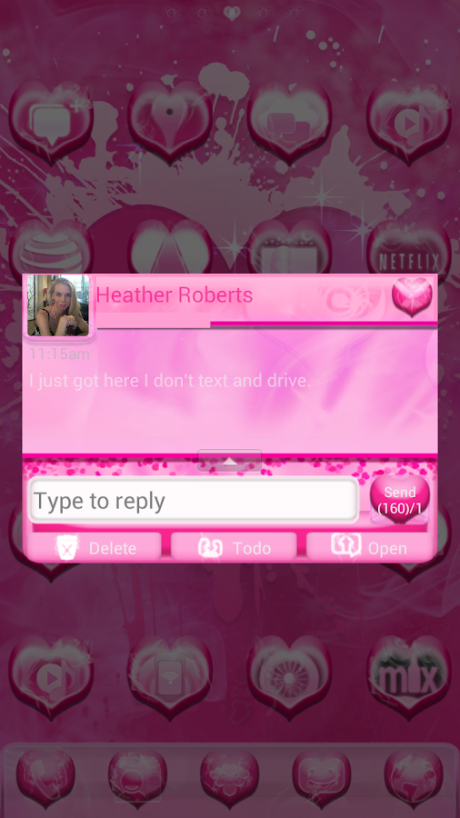 Smokin HOT PINK GO SMS Pro - screenshot